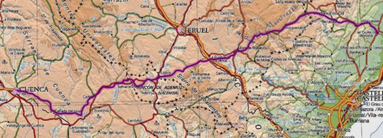 itinerario les Coves - Cuenca